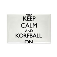 Keep calm and Korfball ON Magnets