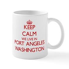 Keep calm we live in Port Angeles Washington Mugs