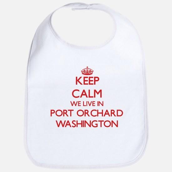 Keep calm we live in Port Orchard Washington Bib