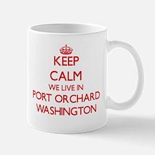 Keep calm we live in Port Orchard Washington Mugs
