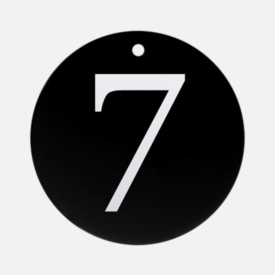 Number 7 Ornament (Round)