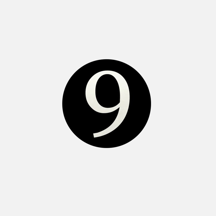 Number 9 Mini Button (10 pack)
