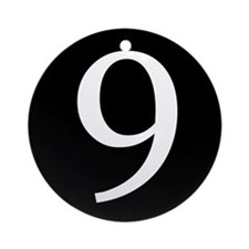 Number 9 Ornament (Round)