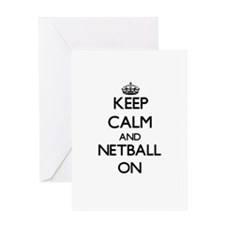 Keep calm and Netball ON Greeting Cards