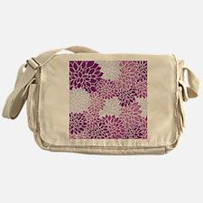 Purple Flowers Messenger Bag