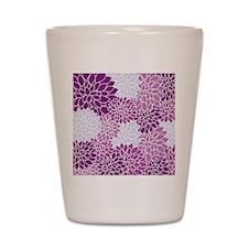 Purple Flowers Shot Glass