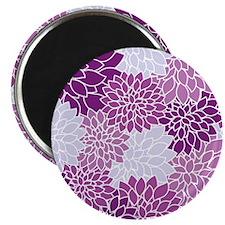 Purple Flowers Magnets