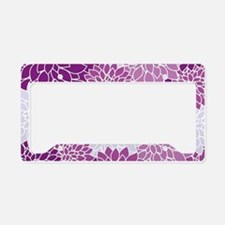 Purple Flowers License Plate Holder