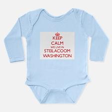 Keep calm we live in Steilacoom Washingt Body Suit