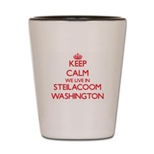 Keep calm we live in Steilacoom Washing Shot Glass