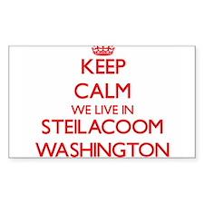 Keep calm we live in Steilacoom Washington Decal