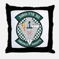 308th Fighter Squadron.png Throw Pillow