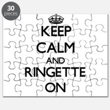 Keep calm and Ringette ON Puzzle