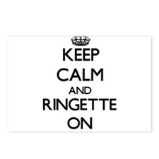 Keep calm and Ringette ON Postcards (Package of 8)