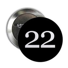 """Number 22 2.25"""" Button"""