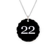 Number 22 Necklace Circle Charm
