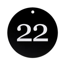 Number 22 Ornament (Round)