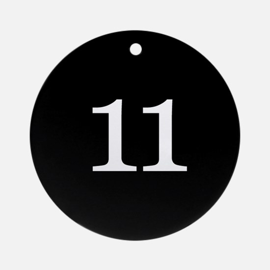 Number 11 Ornament (Round)