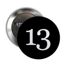 """Number 13 2.25"""" Button"""