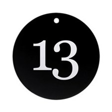 Number 13 Ornament (Round)