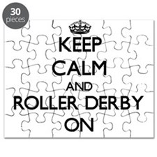 Keep calm and Roller Derby ON Puzzle