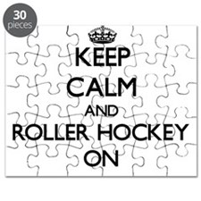 Keep calm and Roller Hockey ON Puzzle