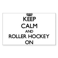 Keep calm and Roller Hockey ON Decal