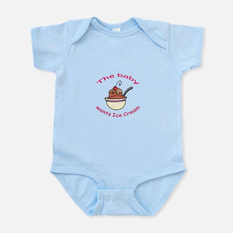 BABY WANTS ICE CREAM Body Suit