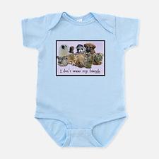 I Don't Wear My Friends Infant Bodysuit