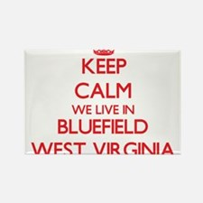Keep calm we live in Bluefield West Virgin Magnets