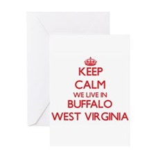Keep calm we live in Buffalo West V Greeting Cards
