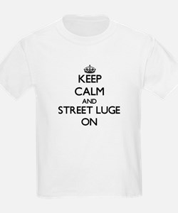 Keep calm and Street Luge ON T-Shirt