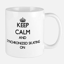 Keep calm and Synchronized Skating ON Mugs