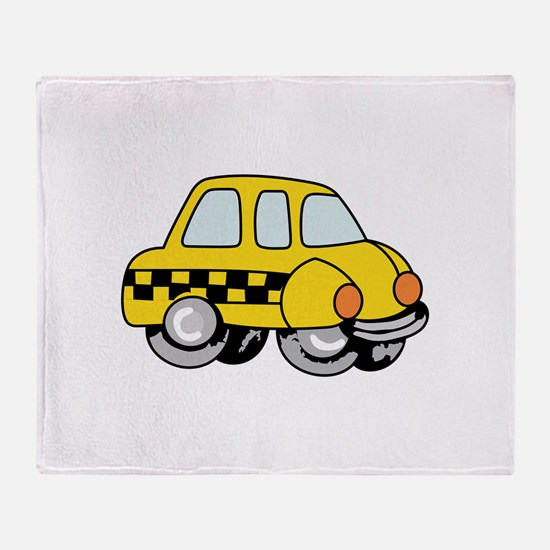 TAXI CAB Throw Blanket