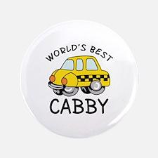 "WORLDS BEST CABBY 3.5"" Button"
