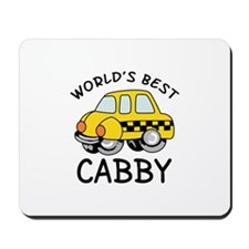 WORLDS BEST CABBY Mousepad
