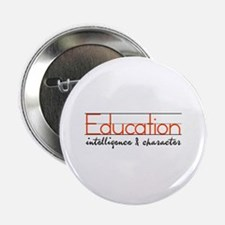 "Intelligence & Character 2.25"" Button (10 pack)"