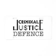 Defence Aluminum License Plate