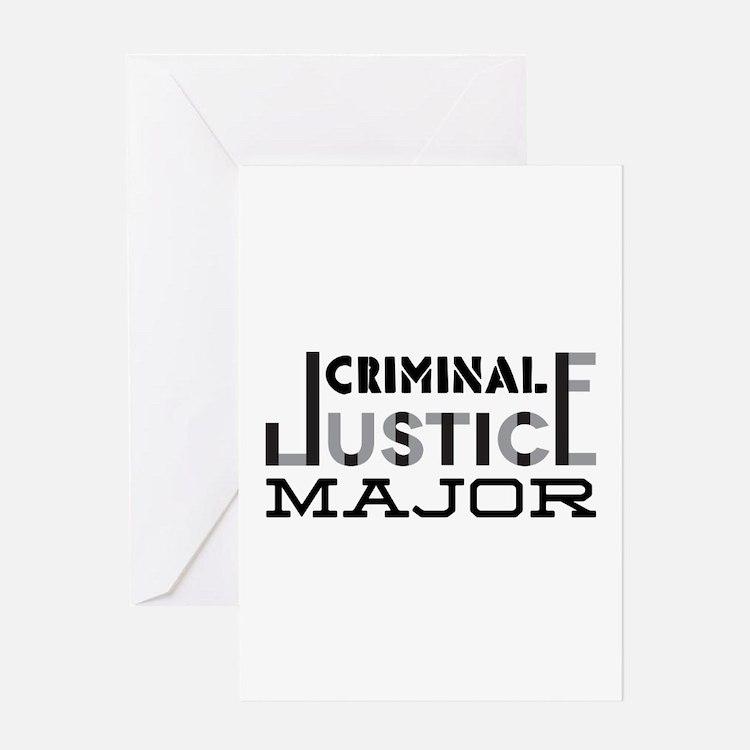 Criminal Justice Major Greeting Cards
