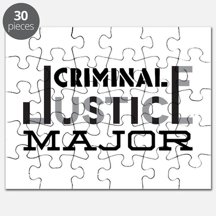 Criminal Justice Major Puzzle
