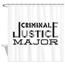Criminal Justice Major Shower Curtain