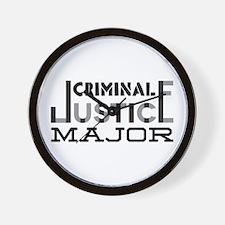 Criminal Justice Major Wall Clock