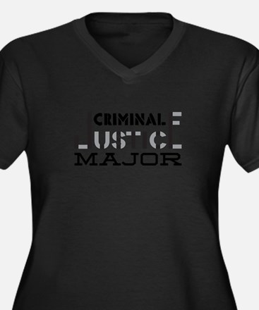 Criminal Justice Major Plus Size T-Shirt