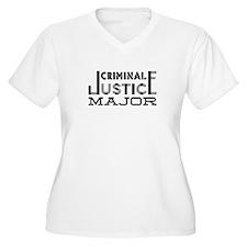 Criminal Justice Major Plus Size T-Shirt