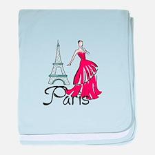 PARIS MODEL baby blanket