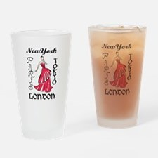 RUNWAY FASHION MODEL Drinking Glass