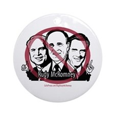 Enough Rudy McRomney Ornament (Round)