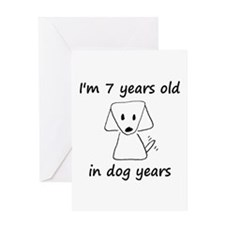 1 dog years 6 - 2 Greeting Cards