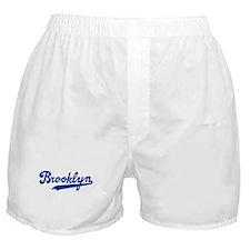 Cursive Blue Brooklyn Boxer Shorts
