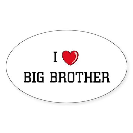 I Love BB Oval Sticker